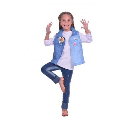 Kit Chaleco Y Accesorios - Soy Luna. 6 A 8 Años.
