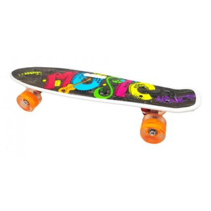 Skate Patineta De 55cm Con Ruedas De Silicona