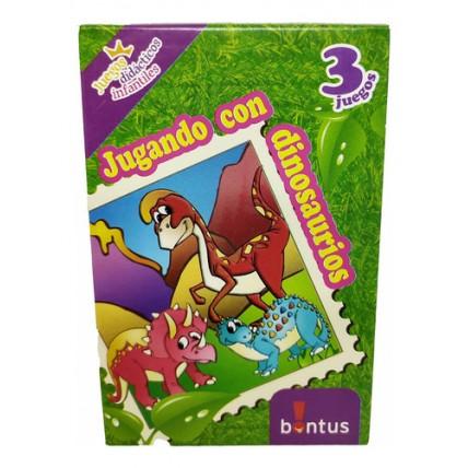 Juego De Cartas Dinosaurios - Bontus