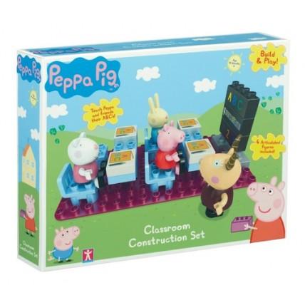 Peppa Pig - Clase De Escuela Encastre Con Figuras