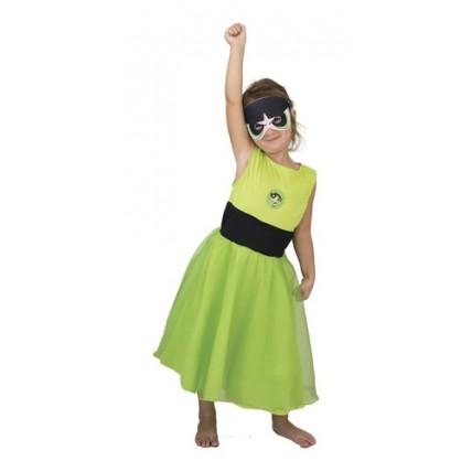 Disfraz Superpoderosas Bellota (verde) Con Luz - Talle 2