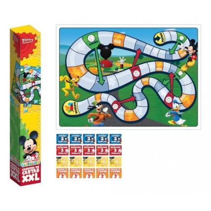 Carrera De Cartas Xxl Mickey Mouse - Juegos De Mesa