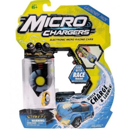 Microcharges Set Lanzador Con Auto Rojo O Azul