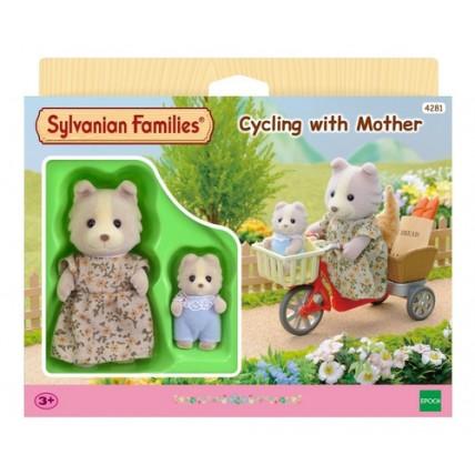 Muñecos Sylvanian Families - Ciclismo Con La Madre