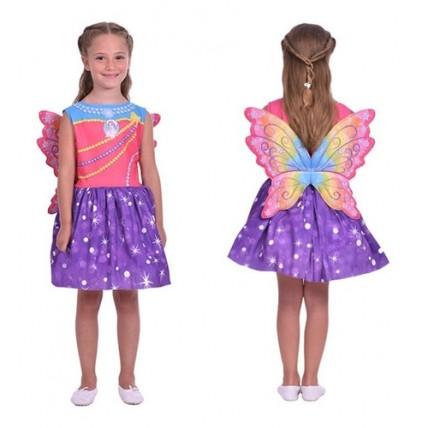 Disfraz Barbie Mariposa Dreamtopia Talle 0