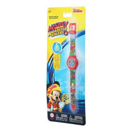 Reloj Dig Mickey Roadster Race