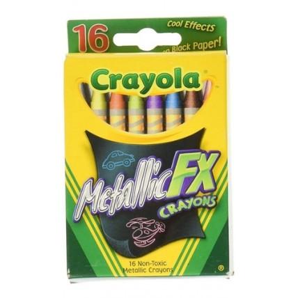 Crayones Fx Metalicos X16  Crayola