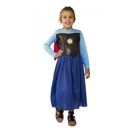 Disfraz Infantil Economico Anna Frozen
