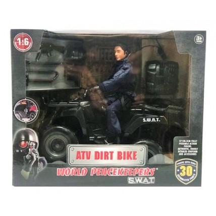 Figura Swat Con Vehiculo.