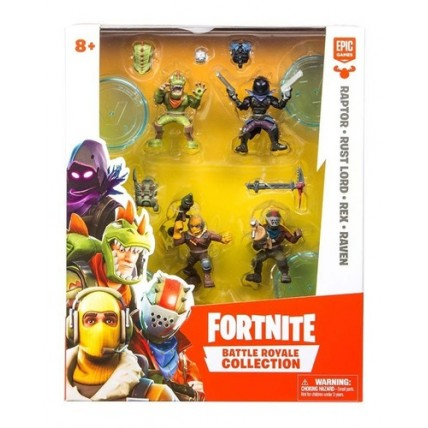 Fortnite - Pack Con 4 Figuras  (5 Cm) Articuladas 5 Cm