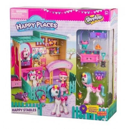 Happy Places S4 - Shopkins Establo Con Figura De Pony