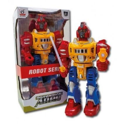 Robot A Pila Gira 360. Habla. Con  Destello De Luces