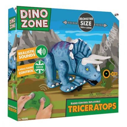 Inflable Dinosaurio Triceratops Con Sonido Y Control Remoto.