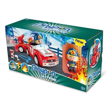 Pinypon Action - Auto De Bomberos Con Figura Y Accesorios