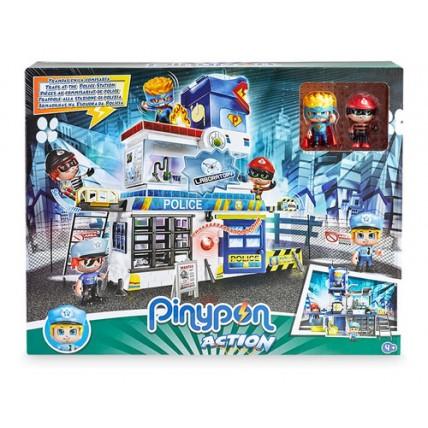 Pinypon Action - Playset Comisaría 2 Figuras Y Accesorios -