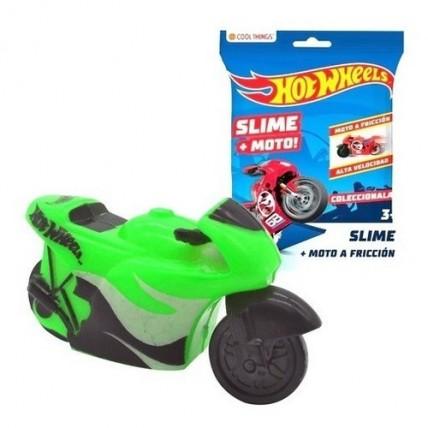 Moto Hotwheels A Fricción Con Slime Pegajoso