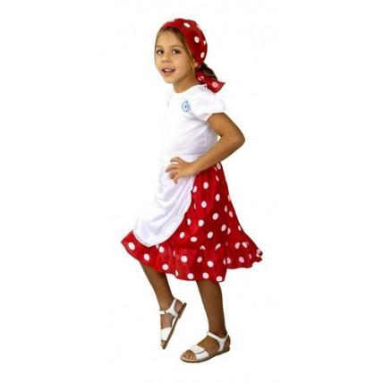 Disfraz Patrio Vendedora Ambulante - Talle 2