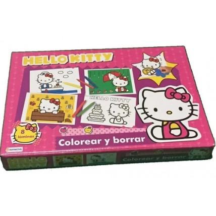 Juego Colorear Y Borrar Hello Kitty