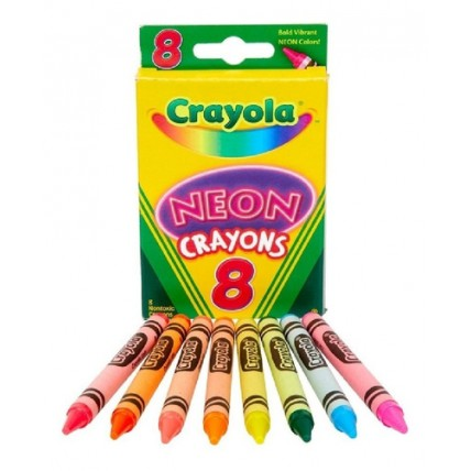 Caja De Crayones Crayola De Neón X 8 Unidades De Colores Sur