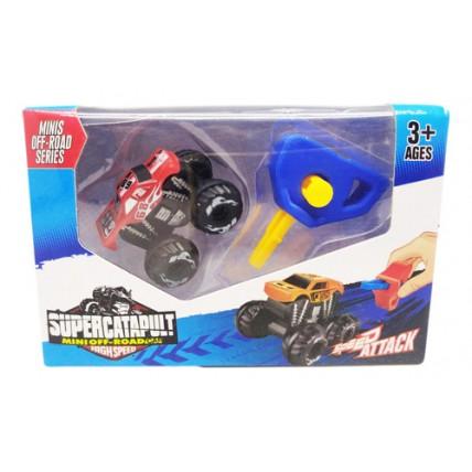 Auto De Juguete 4x4 Con Llave Lanzadora Super Catapult