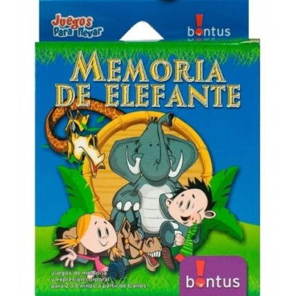 Juego De Cartas Memoria De Elefante - Bontus