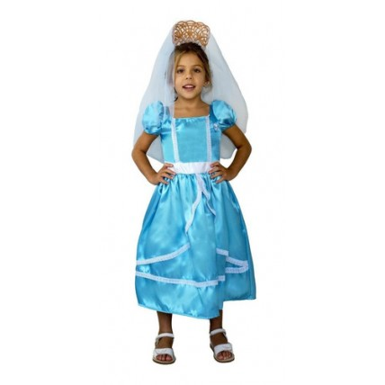 Disfraz Patrio Dama Antigua Celeste - Talle 1