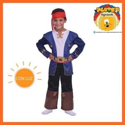 Disfraz Infantil -  Capitan Jake Con  Luz-t2