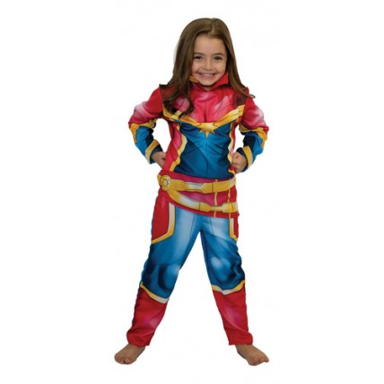 Disfraz Infantil -  Capitana Marvel Con  Luz T 2