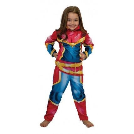 Disfraz Infantil -  Capitana Marvel Con  Luz T 0