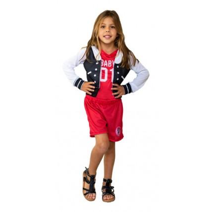 Disfraz Infantil -  L.o.l.  M.c. Swag-rojo -t0