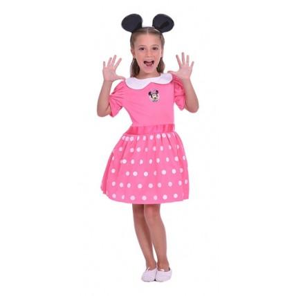 Disfraz Infantil -  Minnie Rosa Con Luz-t1
