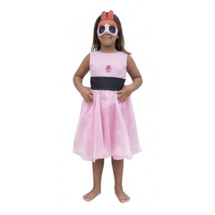 Disfraz Infantil Superpoderosas Bombon Con Luz - Talle 2