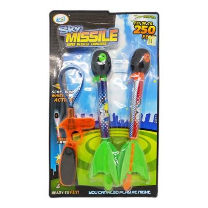 2 Super Misiles Lanzadores A Pila Con Luces Y Sonidos