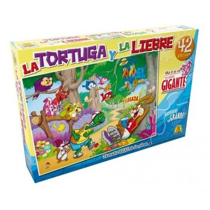 Rompecabeza La Tortuga Y La Liebre  48p - Implas