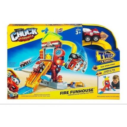 Pista Con Auto Playskool Chuck & Friends Cuartel Divertido