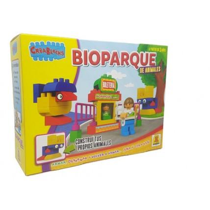 Bloques Bioparque De Animales Crea Blocks 26 Piezas De Encas