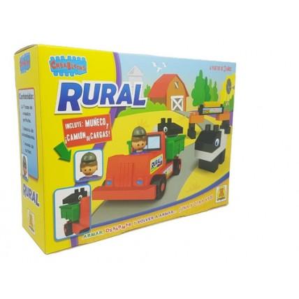 Bloques Rural Crea Blocks 24 Piezas De Encastre