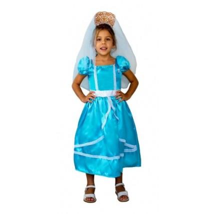 Disfraz Patrio Dama Antigua Celeste