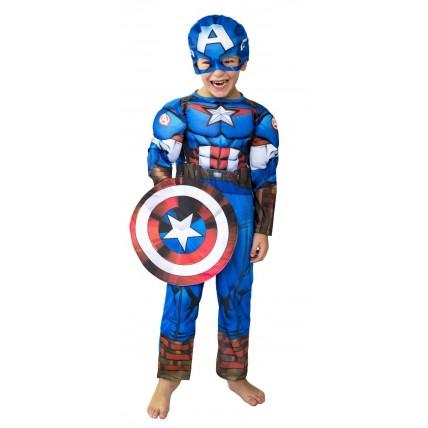 Disfraz  Premium Cap. America C/musculo-t0
