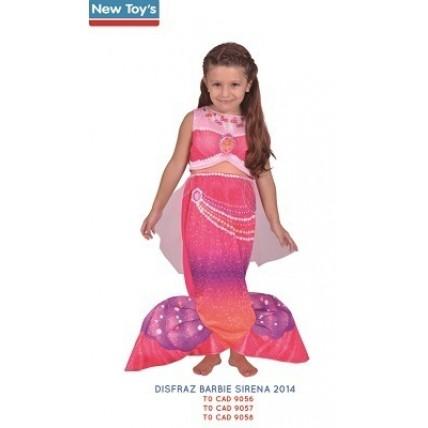 Disfraz Barbie Sirena 2014   T:0