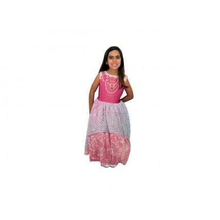 Disfraz Barbie Dreamtopia Rosa C/luz T2