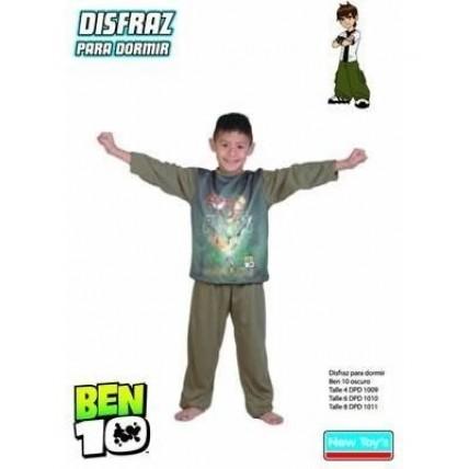 Disfraz P/ Dormir Ben 10 V.oscuro-talle 4-n.t. New Toys