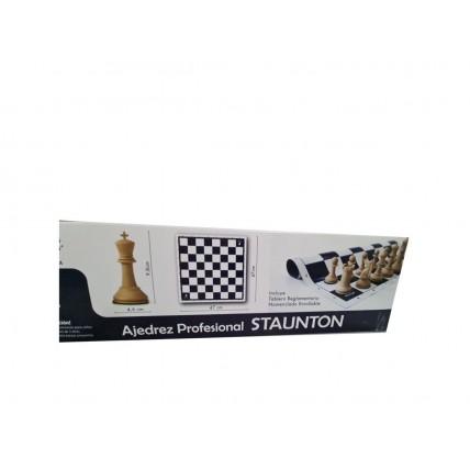 Ajedrez Profesional Staunton C/tablero Vinilico Enrollable 5