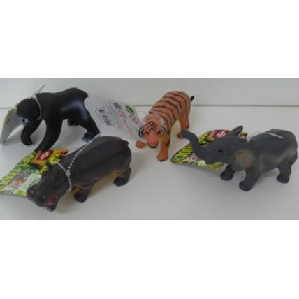 Animales De La Selva - Goma Soft Surtidos