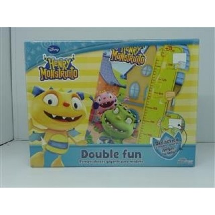 Double Fun Henry Mounstrito - Puzzle Gigante Con Regla Para