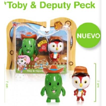 2 Figuras Toby Y Peck-sherif Callie