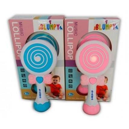 Sonajero Lollipop A Pila Con Luces Y Sonidos En Estuche
