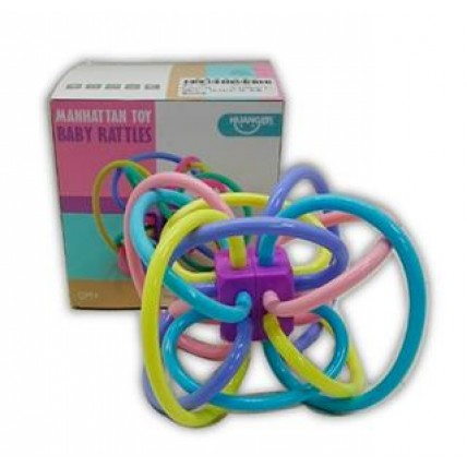 Mordillo Con Aros Flexibles Soft Colores Pasteles En Estuche
