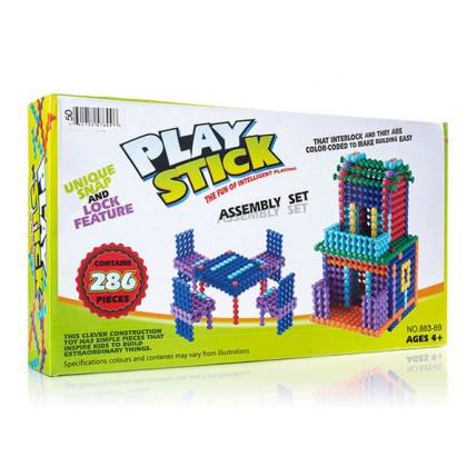 286 Piezas Play Stick  Building Block  Arma Una Casa Y Juego
