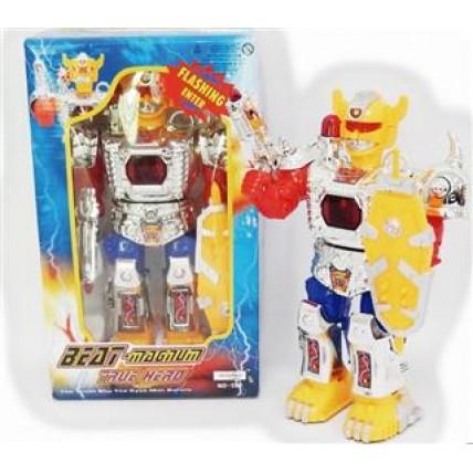 Robot A Pila Luces Camina Sonidos Reales Habla En Caja - V:2874